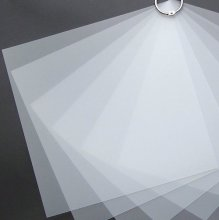 Transparent plastark - Priplak - 0,5 mm - 50 x 70 cm