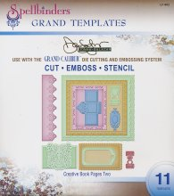 Dies - Spellbinders - Grand Templates - Creative Book Pages Two