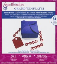Dies - Spellbinders - Grand Templates - Square Petal Top Box